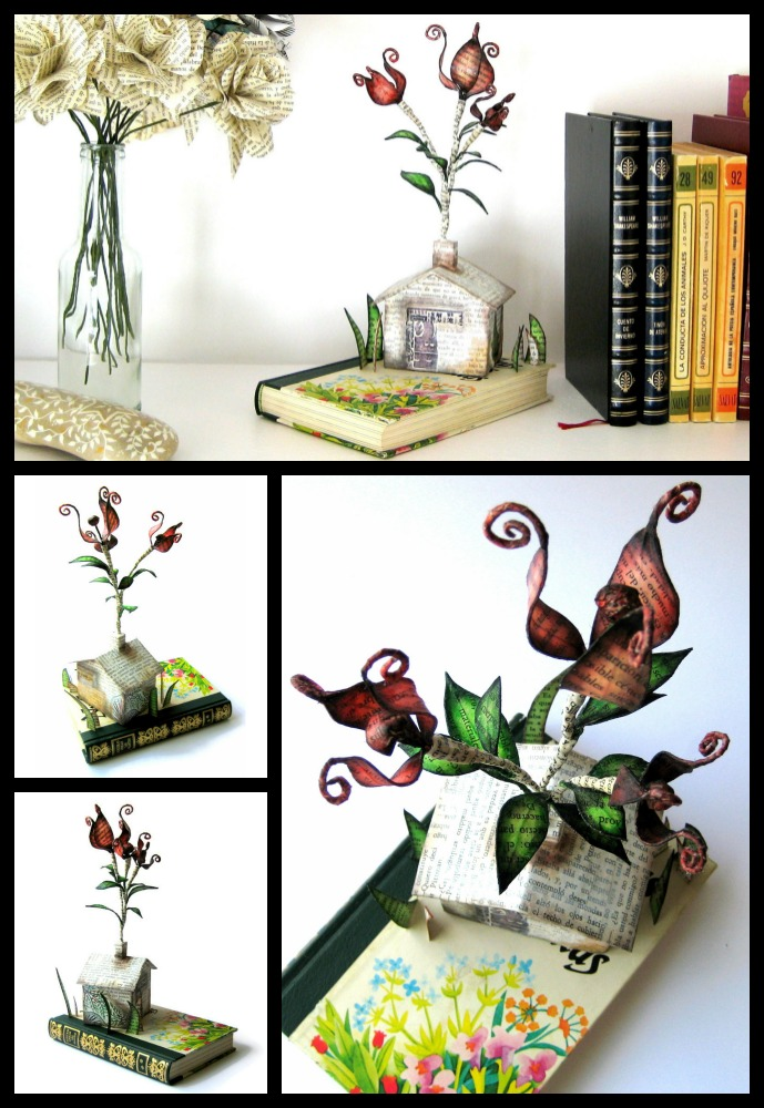 editura-contour-Flowers-in-the-chimney-book-art-sculpture-by-Malena-Valcárcel