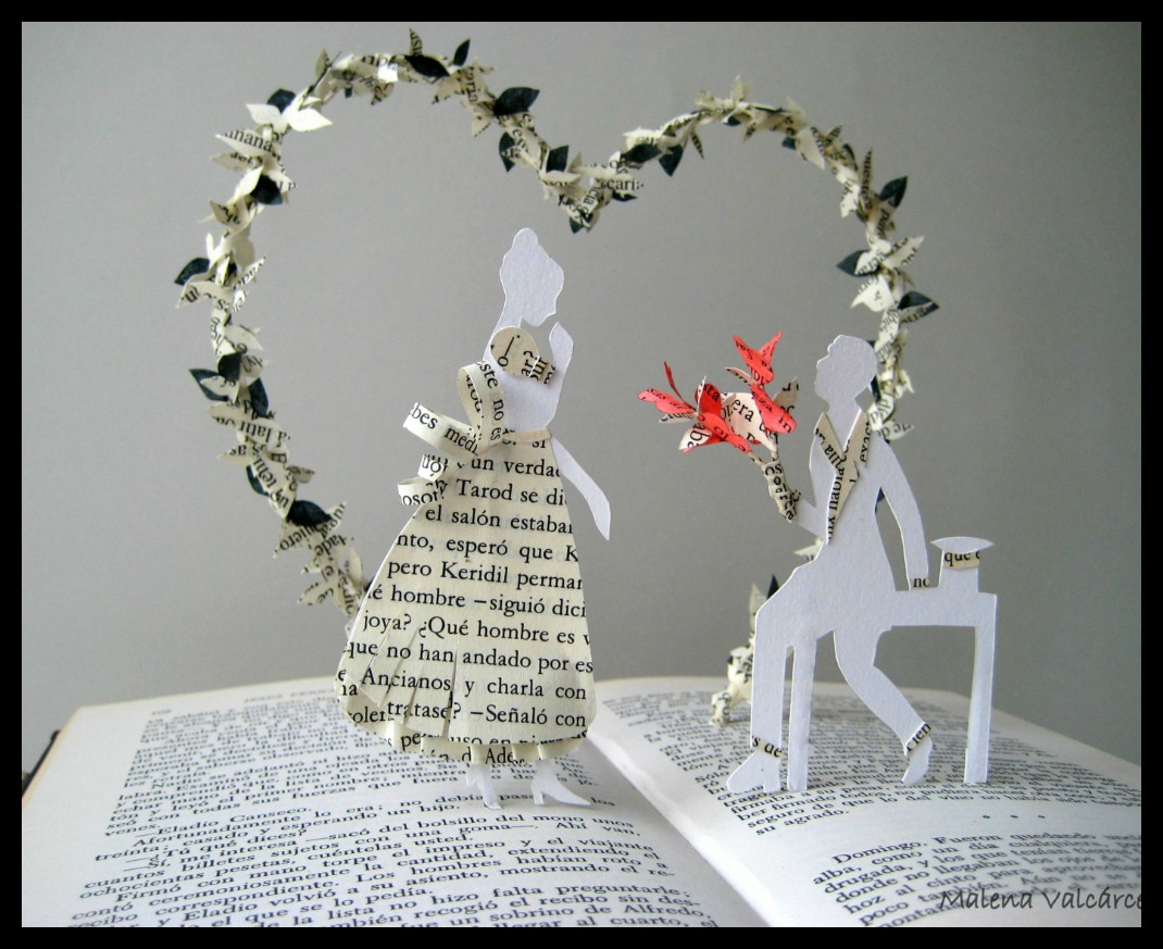 editura-contour-Romantic-book-art-sculpture-by-Malena-Valcárcel